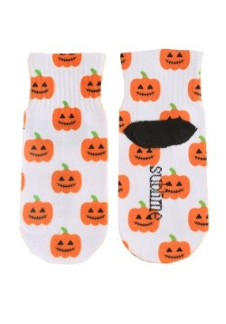 Halloween Pumpkins Kid's White Ankle Socks