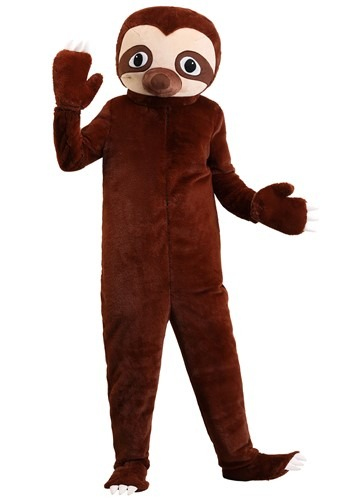 Adults Plus Size Cozy Sloth Costume