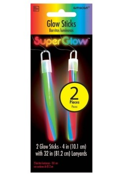 "Multi Color Glowsticks - 4"" Pack of 2"