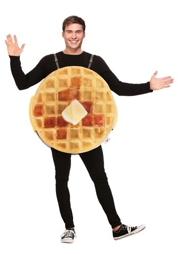 Click Here to buy Eggo Waffle Adult Costume from HalloweenCostumes, CDN Funds & Shipping