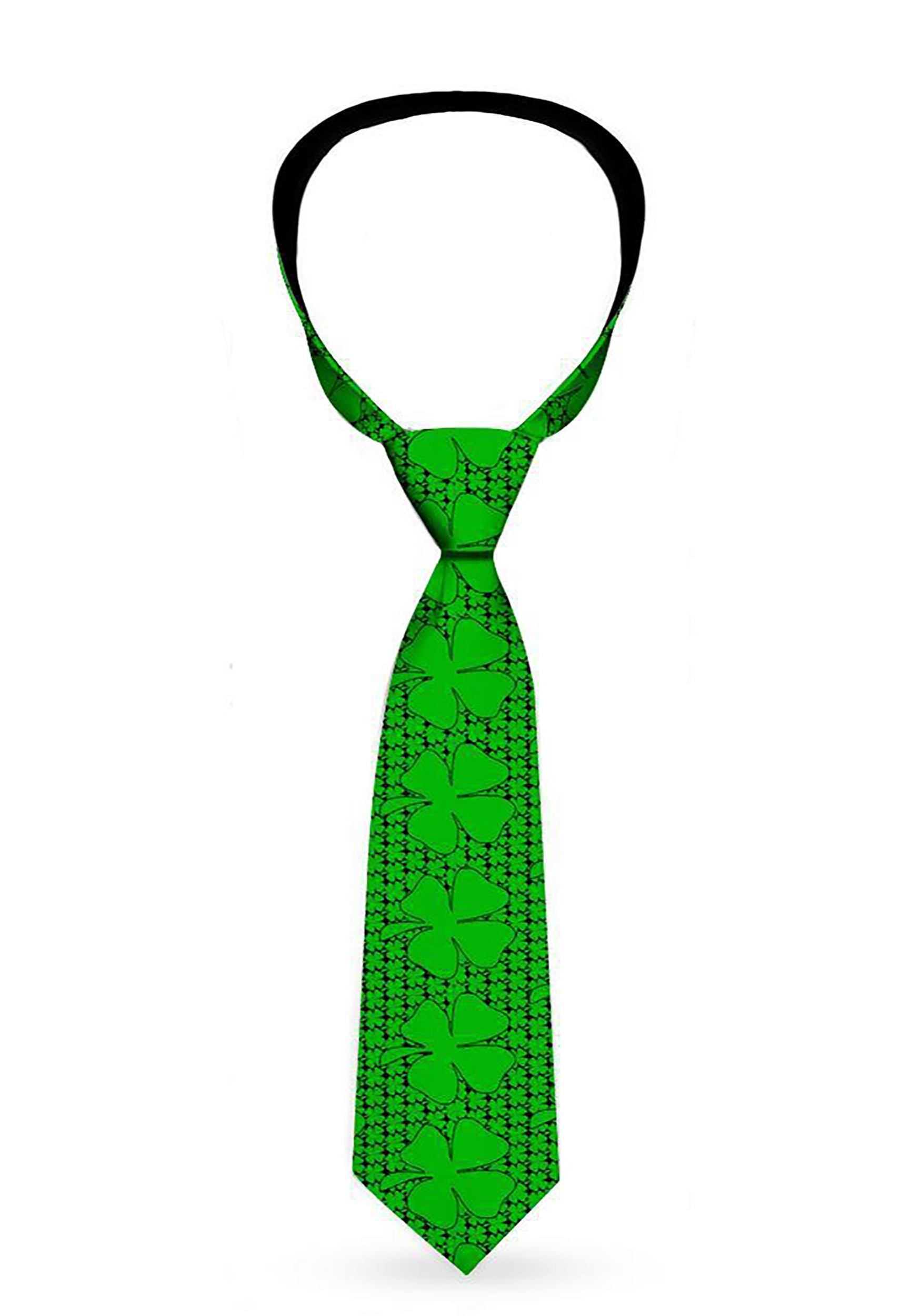 Saint_Patricks_Day_Lucky_Clovers_Green_Necktie