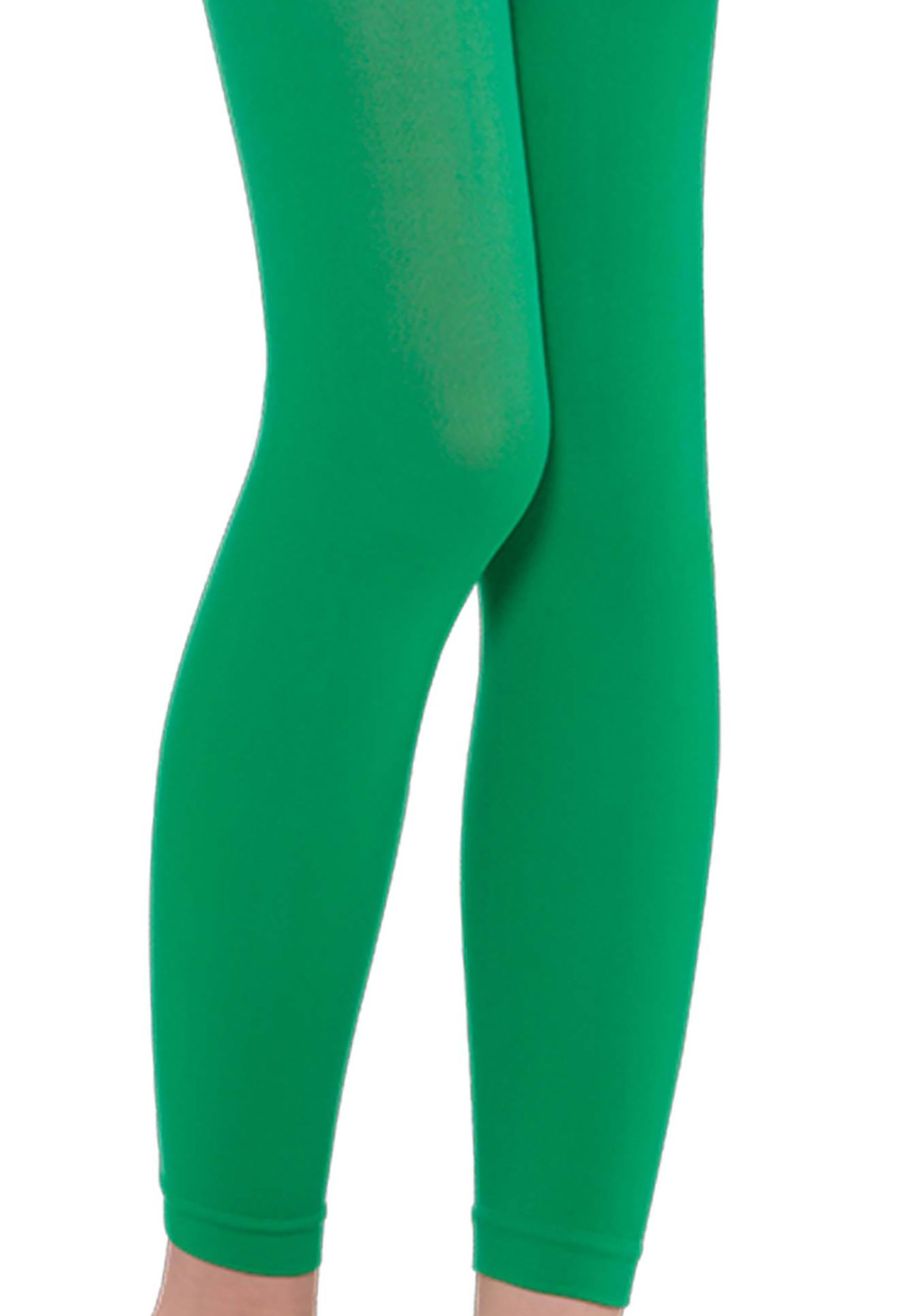 2d253a56ede Girl s Green Footless Tights