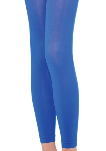 Womens Blue Footless Tights