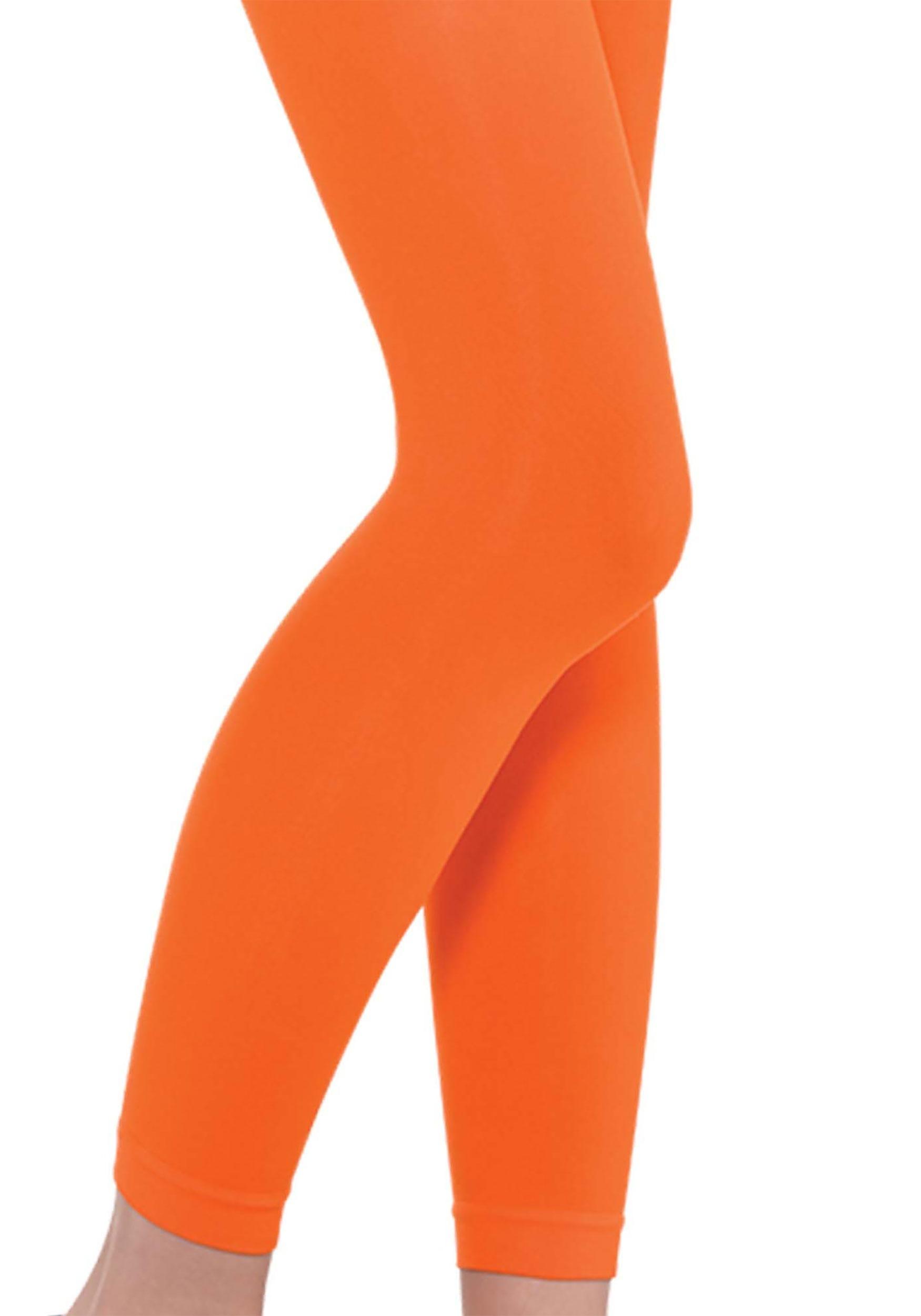 Orange_Adult_Footless_Tights