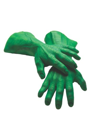 Click Here to buy Hulk Hands Deluxe Latex Adult Gloves from HalloweenCostumes, CDN Funds & Shipping