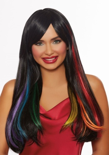 Click Here to buy Womens Hidden Rainbow Wig from HalloweenCostumes, CDN Funds & Shipping