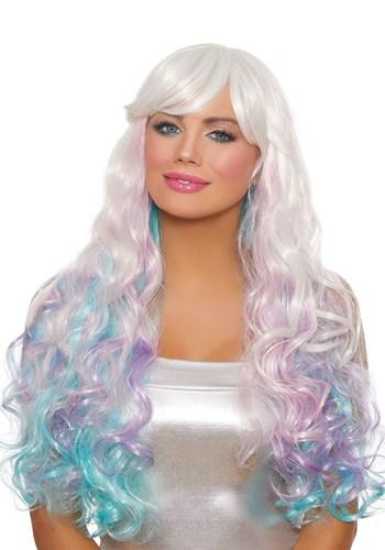 Long Wavy Pastel Womens Wig