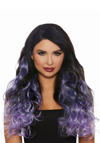 Long Curly Lavender Ombre Hair Extensions for Women