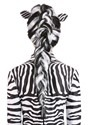 Zebra Wig Women's Back