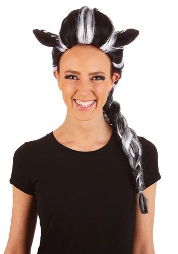 Womens Zebra Wig Adult