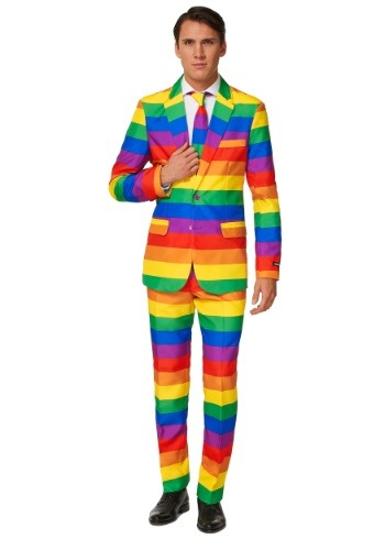 Click Here to buy Mens Rainbow Suitmeister Suit Costume from HalloweenCostumes, CDN Funds