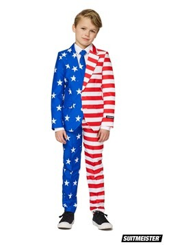 Boys USA Flag Suitmeister Suit Costume