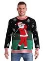 Tipsy Elves Men's Golfing Santa Ugly Christmas Sweater