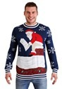 Tipsy Elves Mens Roof Santa Ugly Christmas Sweater