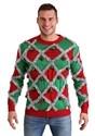 Mens Tipsy Elves Diamond Tinsel Ugly Christmas Sweater