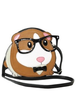 Nerdy Guinea Pig Shoulder Crossbody Bag