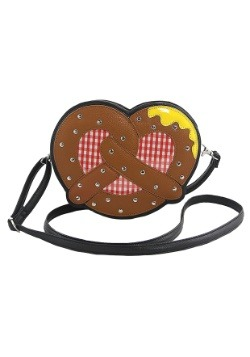 Pretzel With Mustard Crossbody Purse