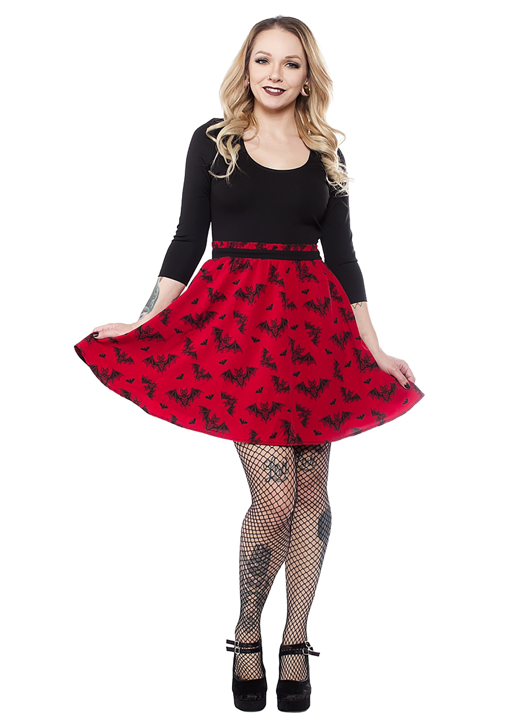 INOpets.com Anything for Pets Parents & Their Pets Women's Sourpuss Bat Attack Scoop Halloween Dress