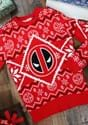 Deadpool Icon Red/White Intarsia Knit Christmas Sweater upda