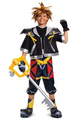 Click Here to buy Kingdom Hearts Sora Deluxe Costume for Teens from HalloweenCostumes, CDN Funds & Shipping
