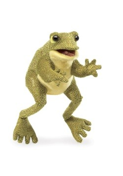 """Funny Frog 12"""" Folkmanis Puppet"""