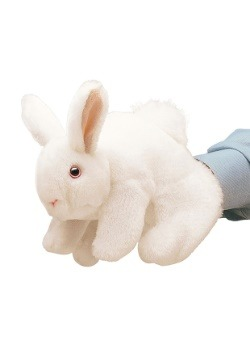 "White Bunny Rabbit 8"" Puppet from Folkmanis"