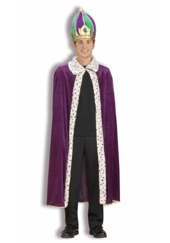 Click Here to buy Mardi Gras Crown and Robe Set from HalloweenCostumes, CDN Funds & Shipping