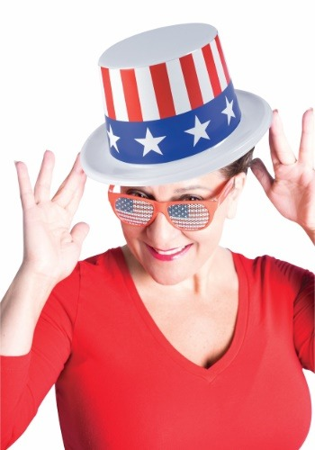 Click Here to buy Patriotic Plastic Top Hat from HalloweenCostumes, CDN Funds & Shipping