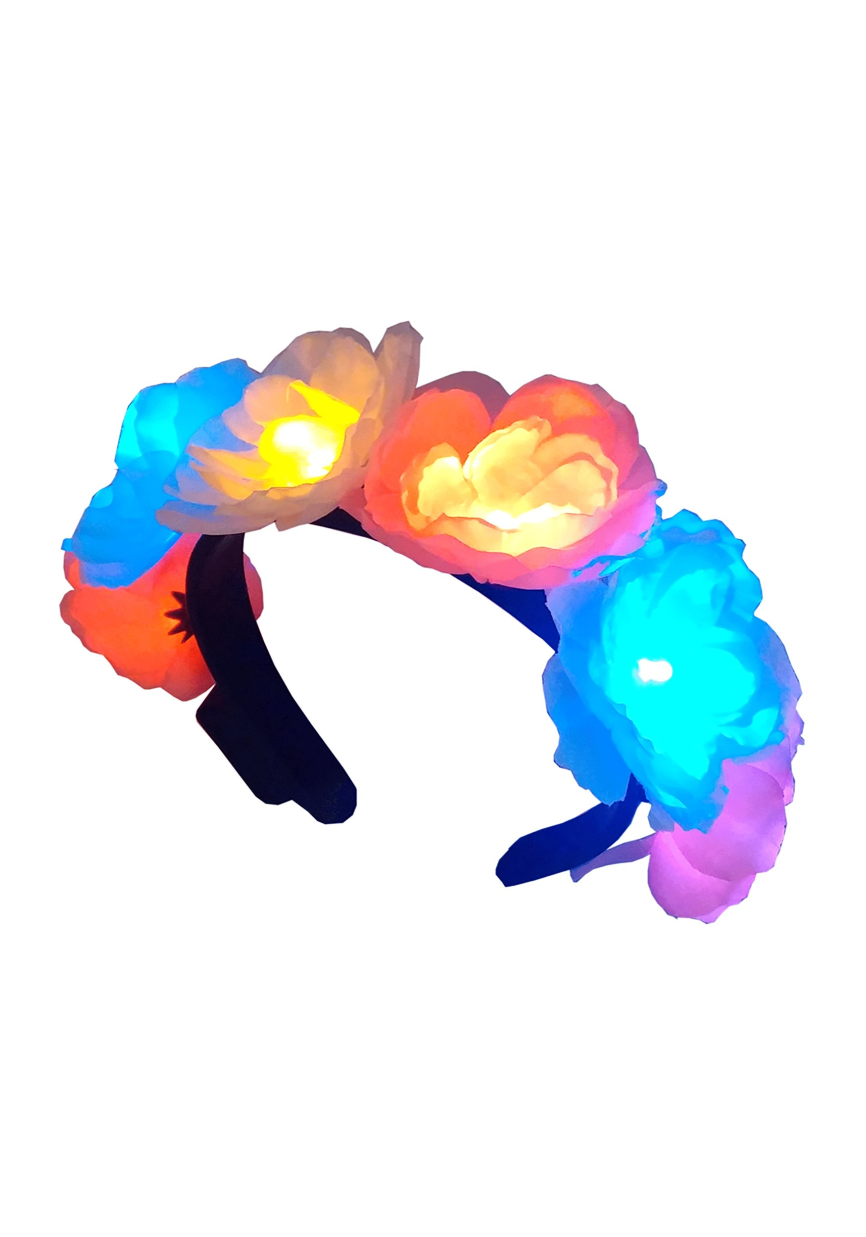 Headband with Flashing Flowers