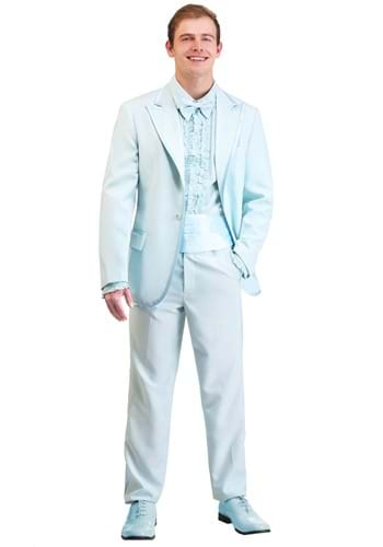 Powder Blue Tuxedo Adult Size Costume