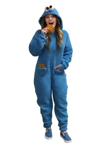 Women's Cookie Monster Pajama Costume-update2