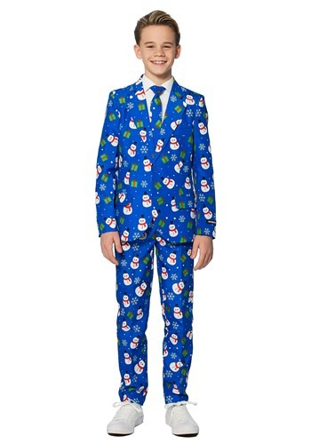 Boys Blue Snowman Suitmiester Suit