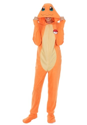 Click Here to buy Adult Union Suit: Pokemon Charmander from HalloweenCostumes, CDN Funds & Shipping
