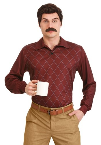 Parks and Recreation Ron Swanson Plus Size Costume for Men