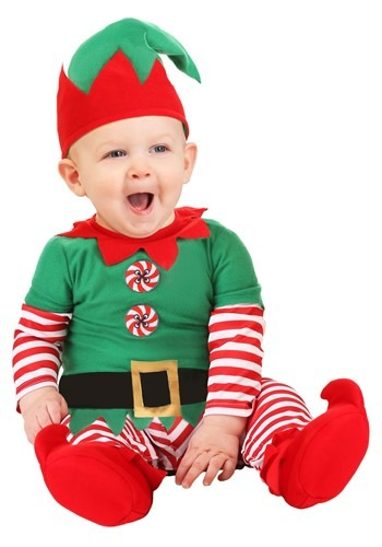 Click Here to buy Baby Christmas Elf Costume from HalloweenCostumes, CDN Funds & Shipping