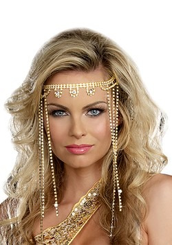 Gold Shimmer Rhinestone Headpiece