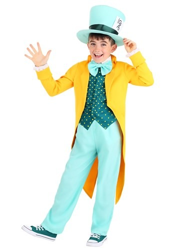 Click Here to buy Bright Mad Hatter Kids Costume from HalloweenCostumes, CDN Funds & Shipping