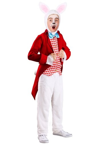 Click Here to buy Kids Dignified White Rabbit Costume from HalloweenCostumes, CDN Funds & Shipping