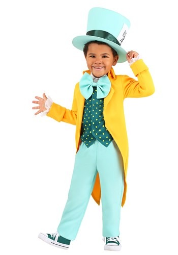 Click Here to buy Bright Mad Hatter Toddlers Costume from HalloweenCostumes, CDN Funds & Shipping