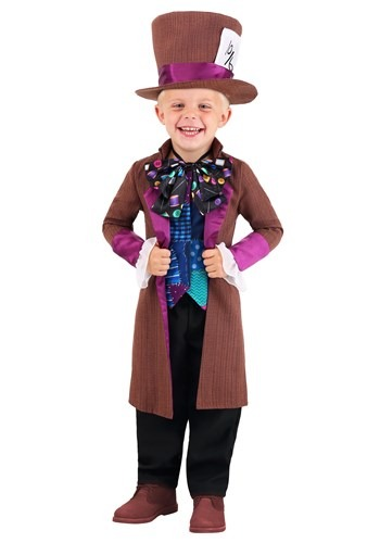 Wacky Mad Hatter Toddlers Costume
