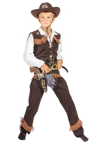 Click Here to buy Kids Rawhide Cowboy Costume from HalloweenCostumes, CDN Funds & Shipping