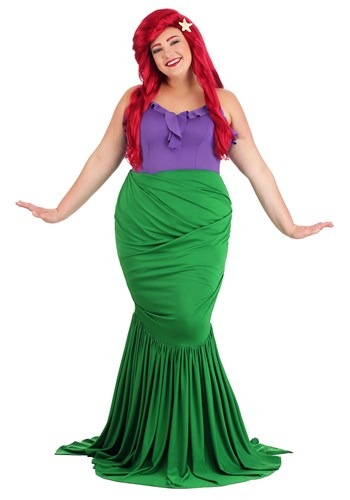 Undersea Mermaid Costume for Plus Size Women