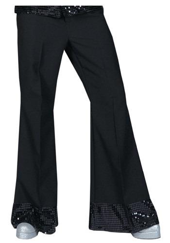 Black Sequin Cuff Disco Pants