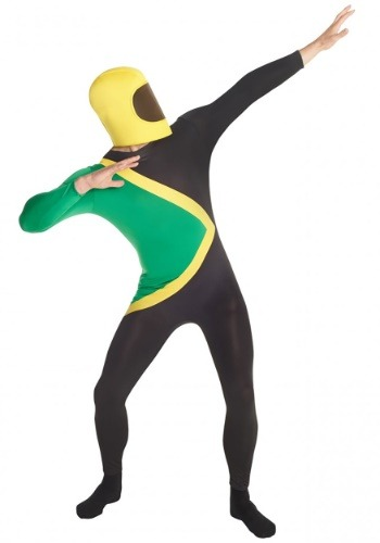 Mens Jamaican Bobsled Olympic Team Morphsuit Costume