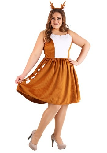 Click Here to buy Dazzling Deer Plus Size Womens Costume from HalloweenCostumes, CDN Funds & Shipping