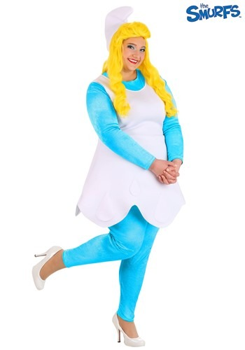 The Smurfs Women's Plus Size Smurf Smurfette Costu