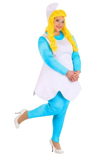 Click Here to buy Womens Plus Size The Smurfs Smurfette Costume from HalloweenCostumes, CDN Funds & Shipping