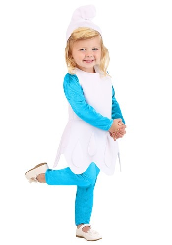 Click Here to buy Toddler Girls The Smurfs Smurfette Costume from HalloweenCostumes, CDN Funds & Shipping