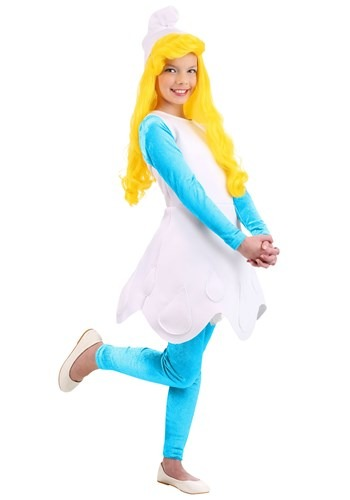Girls The Smurfs Smurfette Costume