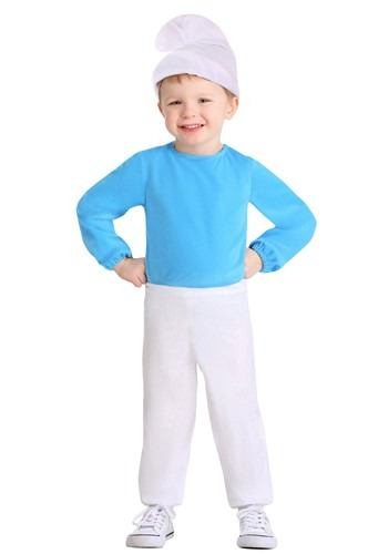 Click Here to buy Toddler The Smurfs Smurf Costume from HalloweenCostumes, CDN Funds & Shipping
